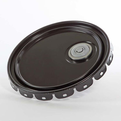 Picture of 2.5-7 Gallon Black Lug Cover, Rust Inhibited with Flex Spout (24 Gauge)