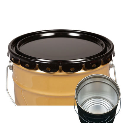 Picture of 2.5 - 7 Gallon Black Ring Seal Cover, Rust Inhibited w/ Neoprene Gasket (24 Gauge)
