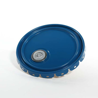 Picture of 2.5-7 Gallon Blue Lug Cover, Phenolic Lined w/ Flex Spout (24 Gauge)