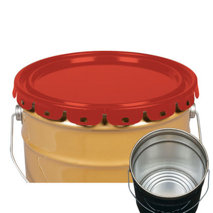 Picture of 2.5-7 Gallon Red Lug Cover, Rust Inhibited (24 Gauge)