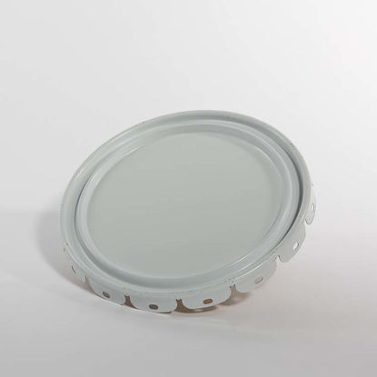 Picture of 2.5-7 gallon White Lug Cover, Phenolic Lined (24 Gauge)