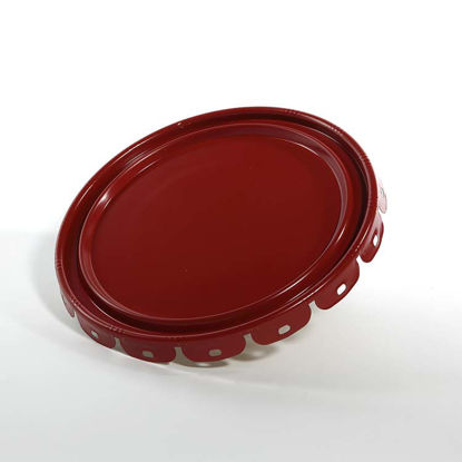 Picture of 2.5-7 Gallon Red Lug Cover, Phenolic Lined (24 Gauge)