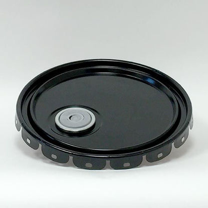 Picture of 2.5-7 Gallon Black Lug Cover, Red Phenolic Lined w/ Flex Spout