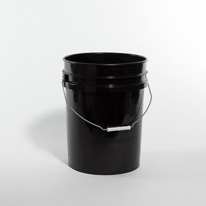 Picture of 20 liter Black HDPE Open Head Pail, 1H2/Y1.5/30