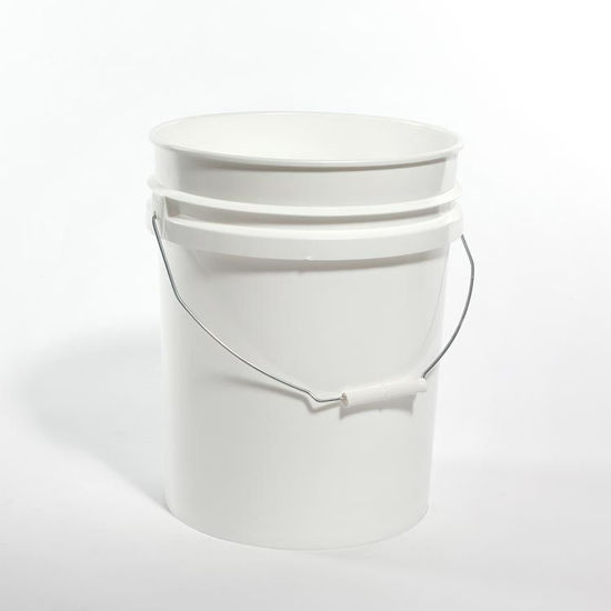 Picture of 5 Gallon White HDPE Open Head Pail, 1H2/Y1.5/30 & 1H2/Y43/S