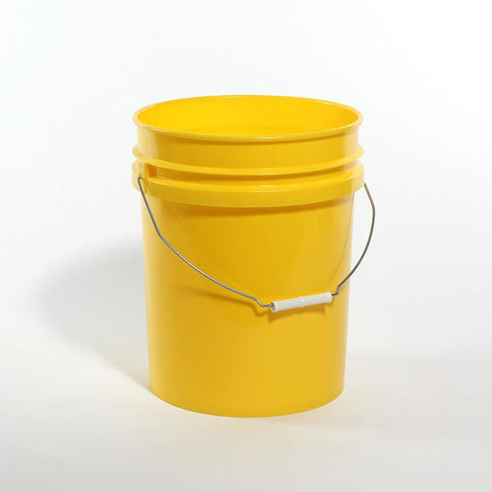Picture of 5 Gallon Yellow HDPE Open Head Pail