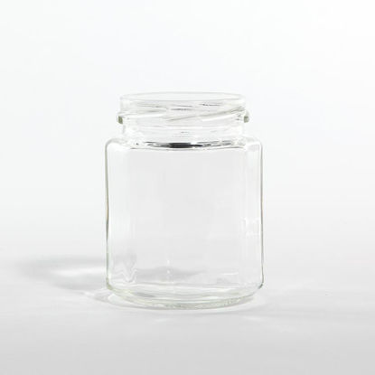 Picture of 9 oz Flint Classic Ribbed Jar, 63-2030, 12x1