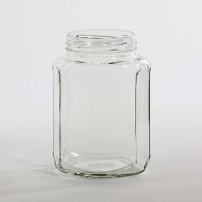 Picture of 375 ml Flint Hex Jar, 63-2030 Twist, 12x1