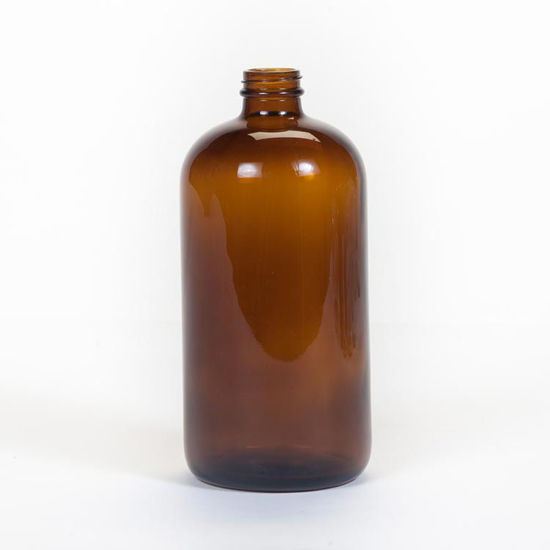 Picture of 32 oz Amber Boston Round, 33-400