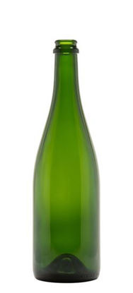 Picture of 750 ml Green Champagne Bottle, Crown Finish, 12x1
