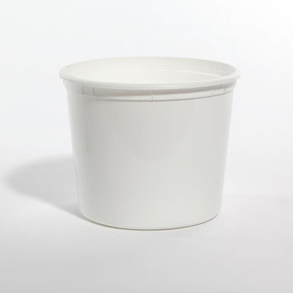 Picture of 166 oz White HDPE Dairy Tub