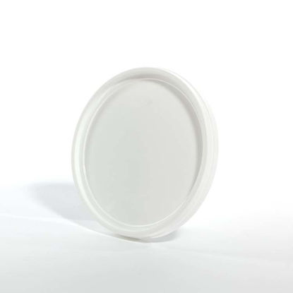 Picture of 143 oz White HDPE Tear Tab Tub Cover