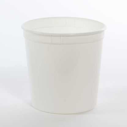 Picture of 85 oz White PP Dairy Tub