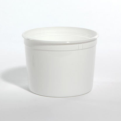 Picture of 64 oz White HDPE Dairy Tub