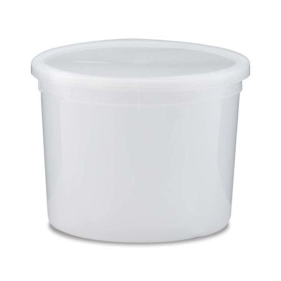 Picture of 10 lb White HDPE Dairy Tub