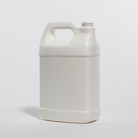 Picture of 128 oz White HDPE F-Style, 38-400, 150 Gram, Fluorinated Level 2