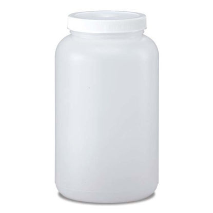 Picture of 77 oz Natural HDPE Wide Mouth Jar, 89 mm