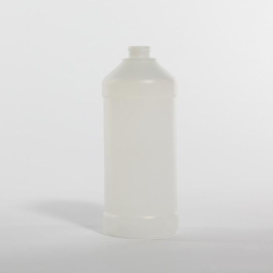 Picture of 32 oz Natural HDPE Modern Round, 28-400, 52 Gram