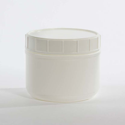 Picture of 36 oz White HDPE Canister, 120 mm, Triple Thread
