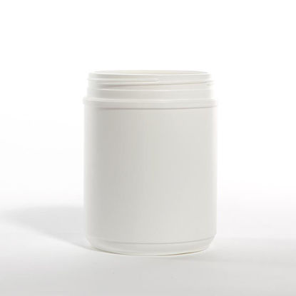 Picture of 60 oz White HDPE Canister, 120-400, Triple Thread