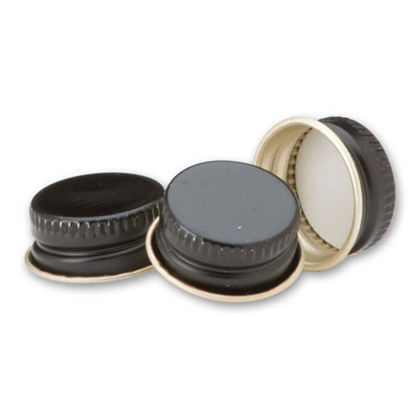 Picture of 20 mm Black Metal Screw Cap with Pulp & Vinyl Liner