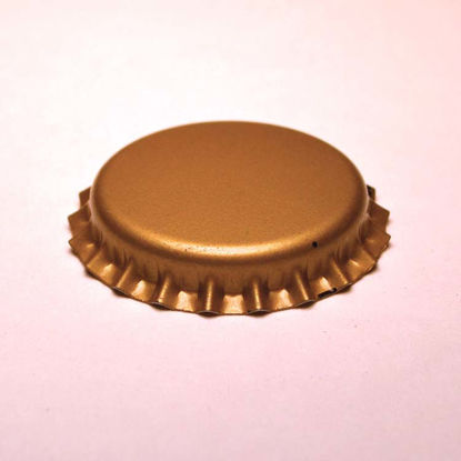 Picture of 26 mm Gold Metal Bottle Cap