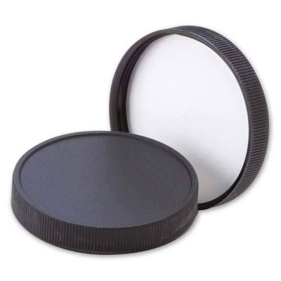 Picture of 70-400 Black PP Matte Top, Ribbed Sides Cap with F217 Liner