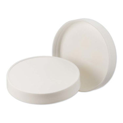 Picture of 100-400 White PP Matte Top, Ribbed Sides Cap with F217 Liner