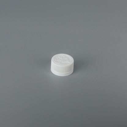 Picture of 24 mm White PP Child Resistant Cap with SG75 Plain Liner (Heat Seal For PE)