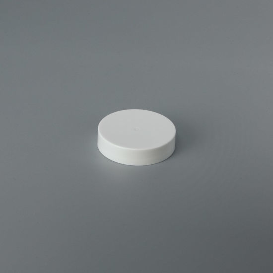 Picture of 45-400 White PP Smooth Top, Ribbed Sides Cap with F217 Liner