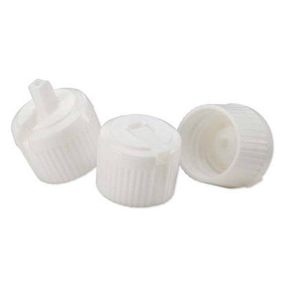 Picture of 20-410 White PE Turret Spout Cap with PS115 Liner (3mm Orifice)