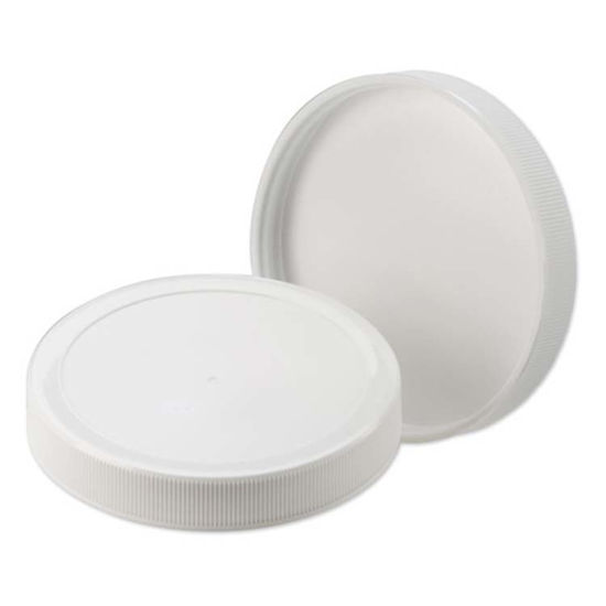 Picture of 89-400 White PP Matte Top, Ribbed Sides Cap w/ Sure Seal Foam Liner