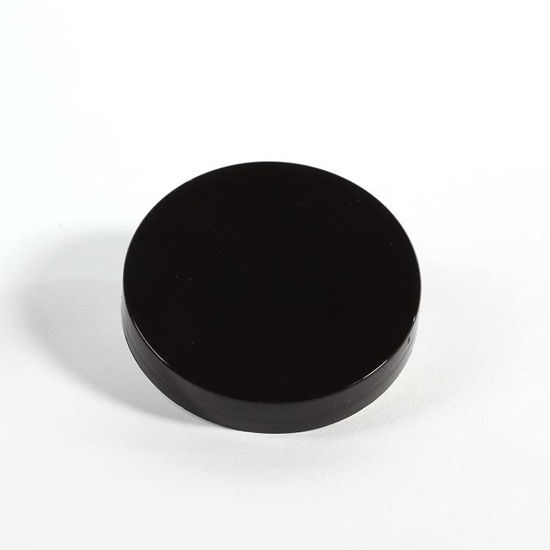 Picture of 63-400 Black PP Smooth Top, Smooth Sides Cap with PE Foam Liner