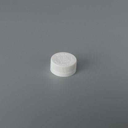 Picture of 28-400 White PP Child Resistant Cap with ISPVC (Heat Seal For PET/PV)
