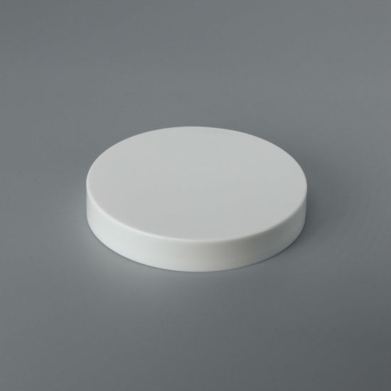 Picture of 89-400 White PP Smooth Top, Smooth Sides Cap with PS22 Plain Liner