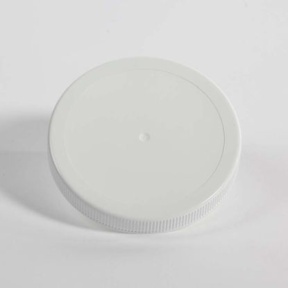 Picture of 110-400 White PP Matte Top, Ribbed Sides Cap w/ PS22 Plain Liner