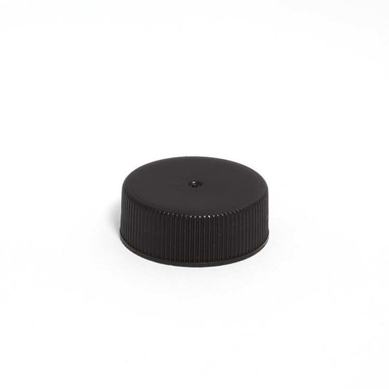 Picture of 28-400 Black PP Matte Top, Ribbed Sides Cap w/ F217 Glued Liner