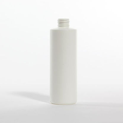 Picture of 8 oz White HDPE Cylinder Styleline, 24-410, 22 Gram