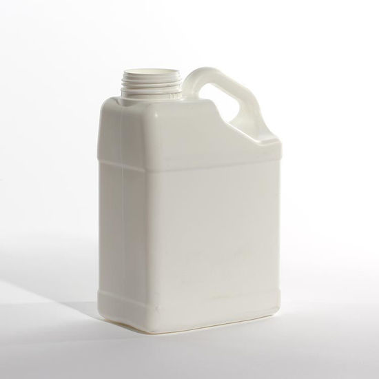Picture of 4 liter White HDPE Slant Handle F-Style, 63 mm, 180 Gram, Fluorinated Level 3