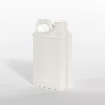 Picture of 8 oz White HDPE F-Style with View Stipe, 28-410, 30 Gram