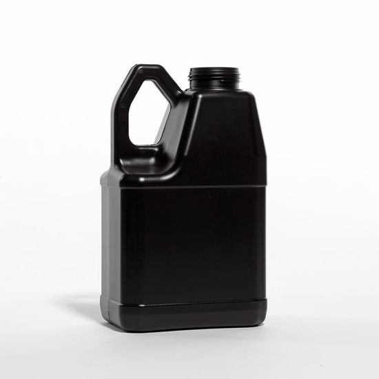 Picture of 128 oz Black HDPE Slant Handle F-Style, 63-485, 190 Gram