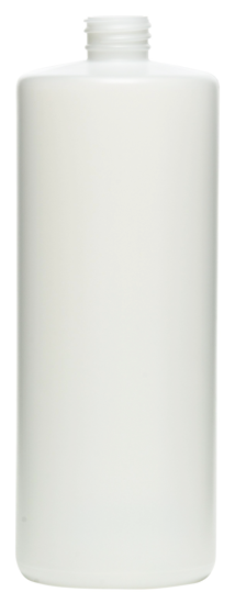 Picture of 32 oz White HDPE Cylinder, 28-SP400, 52 Gram