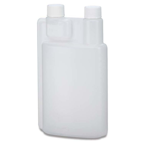 Picture of 32 oz Natural HDPE Twin Neck Bettix, 28-410, 1 oz Chamber, 80 Gram