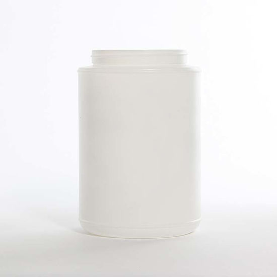 Picture of 90 oz White HDPE Wide Mouth Jar, 110-400