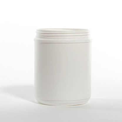Picture of 60 oz White HDPE Canister, 120-400, Single Thread