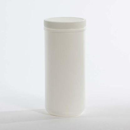 Picture of 38 oz White HDPE Canister, 89-400