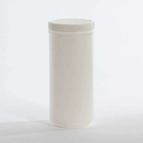 Picture of 38 oz White HDPE Single Thread Canister, 89 mm, 54.5 Gram