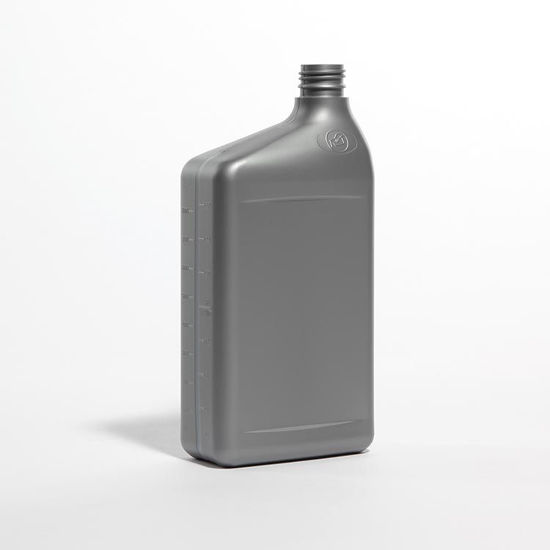 Picture of 32 oz Gray HDPE Ready to Use with View Stripe, 28 mm Drop-loc, 50 Gram