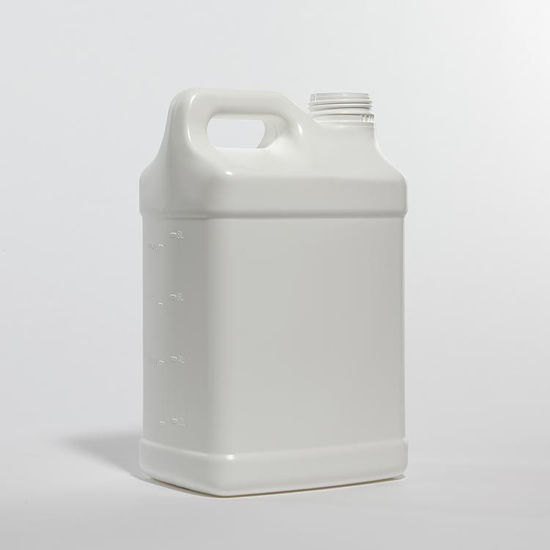 Picture of 10 liter White HDPE F-Style, 63 mm, 2x1