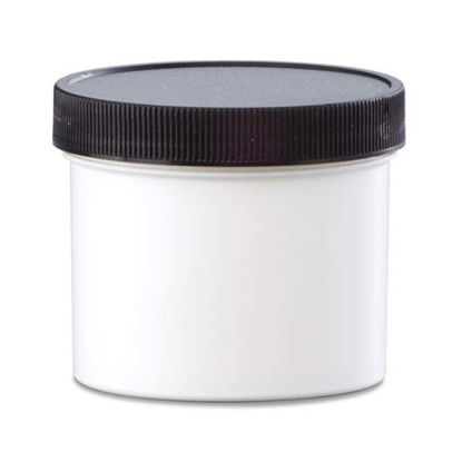 Picture of 4 oz White PP Straight Side Jar, 70-400